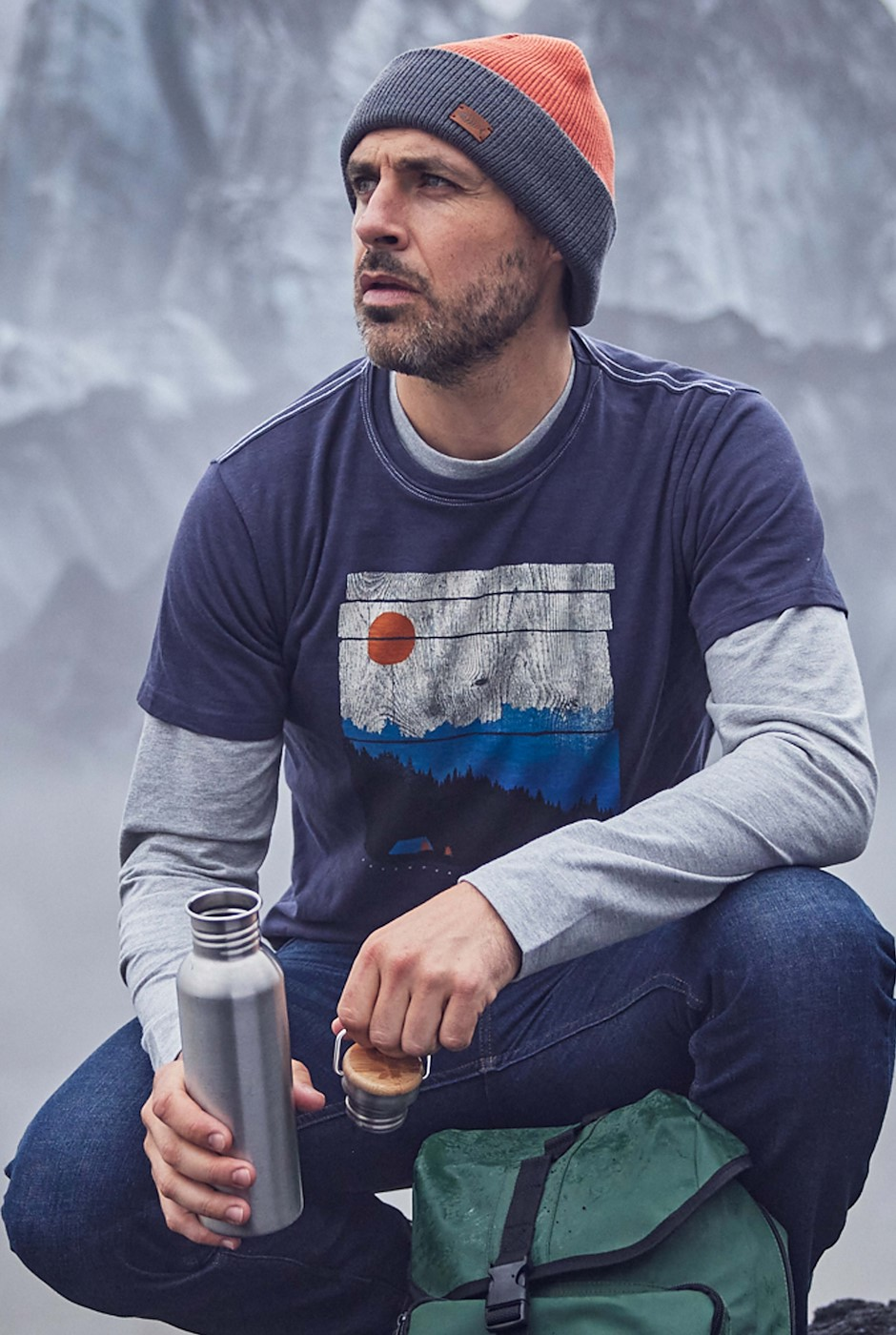Out There Eco Graphic T-Shirt Navy