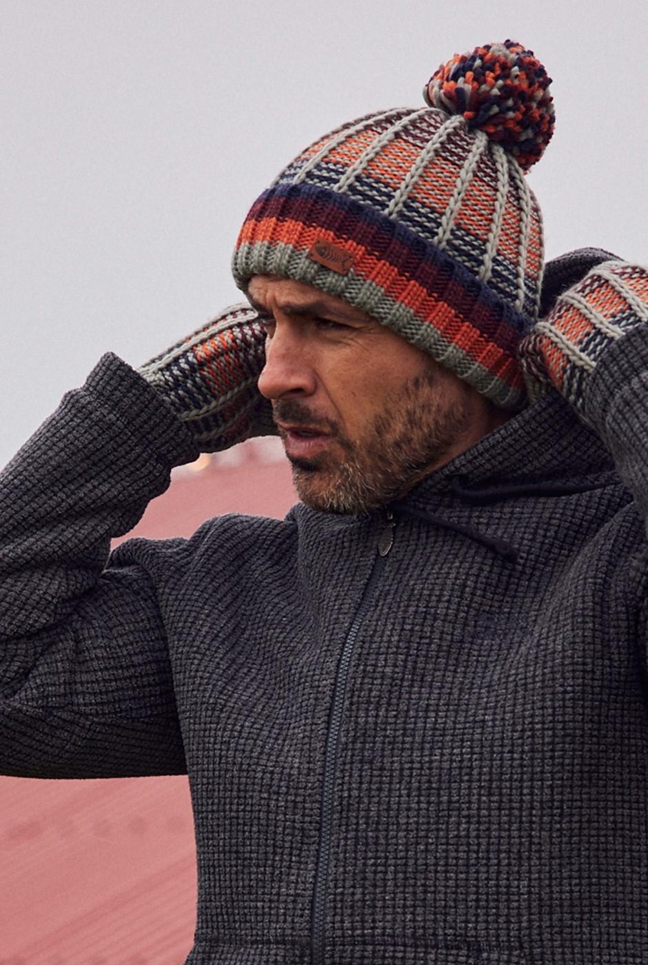 Mexia Eco Stripe Rib Hat Frost Grey