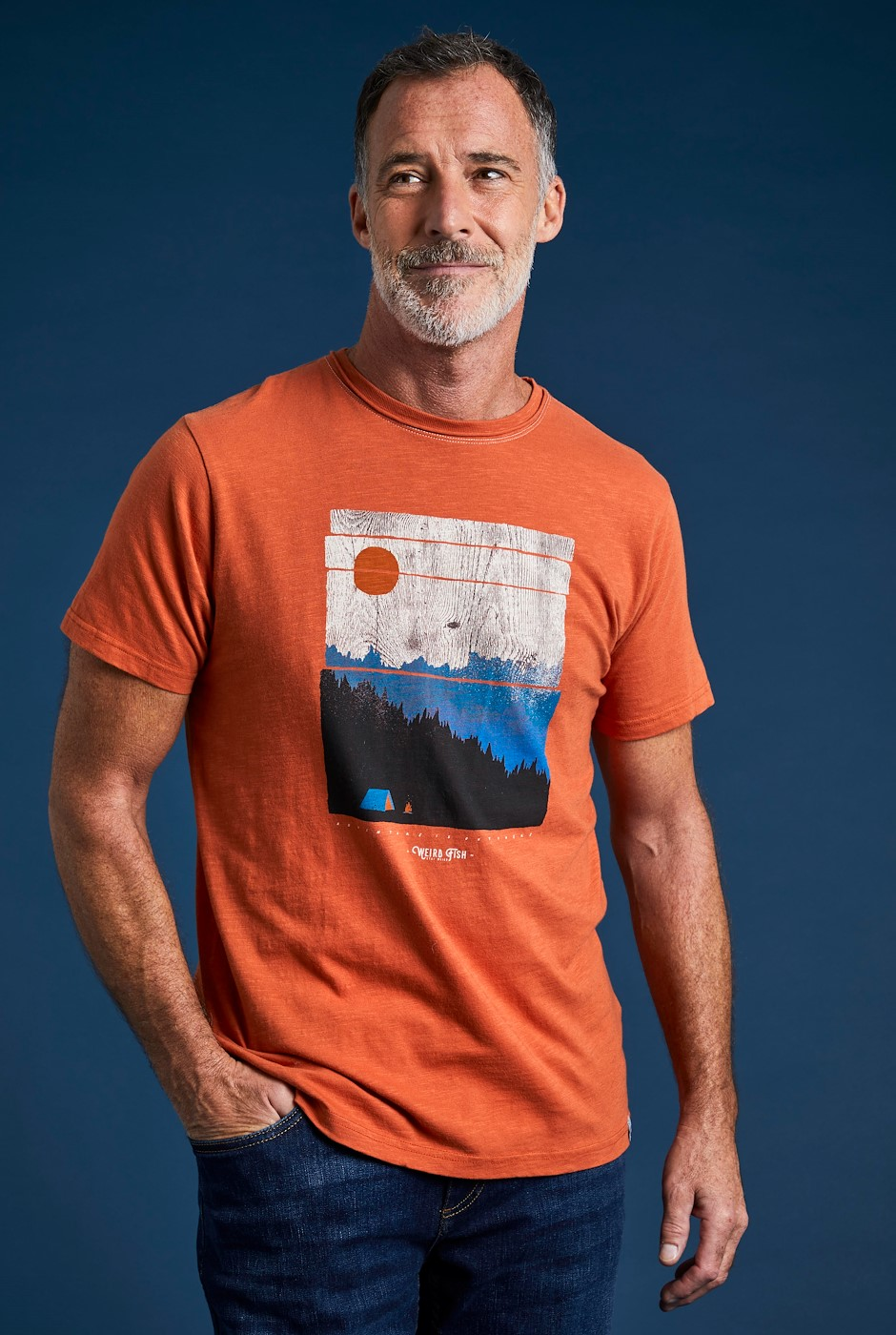 Out There Eco Graphic T-Shirt Rust