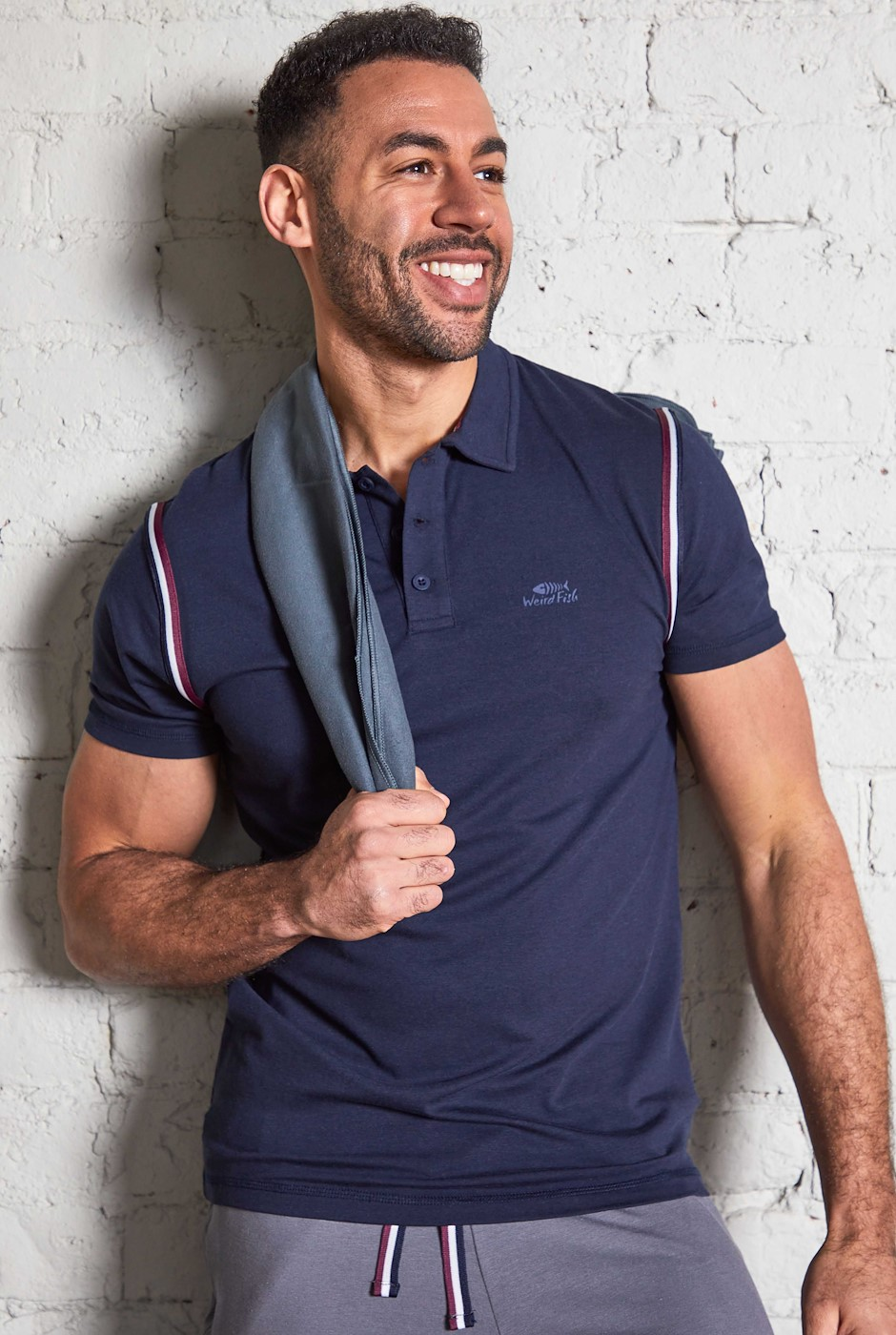 Marcus Bamboo Polo Shirt Dark Navy