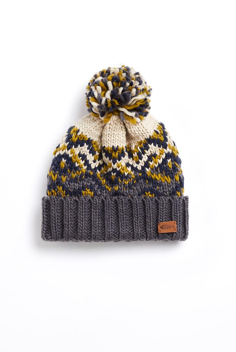 Tahara Eco Fairisle Hat Beechnut