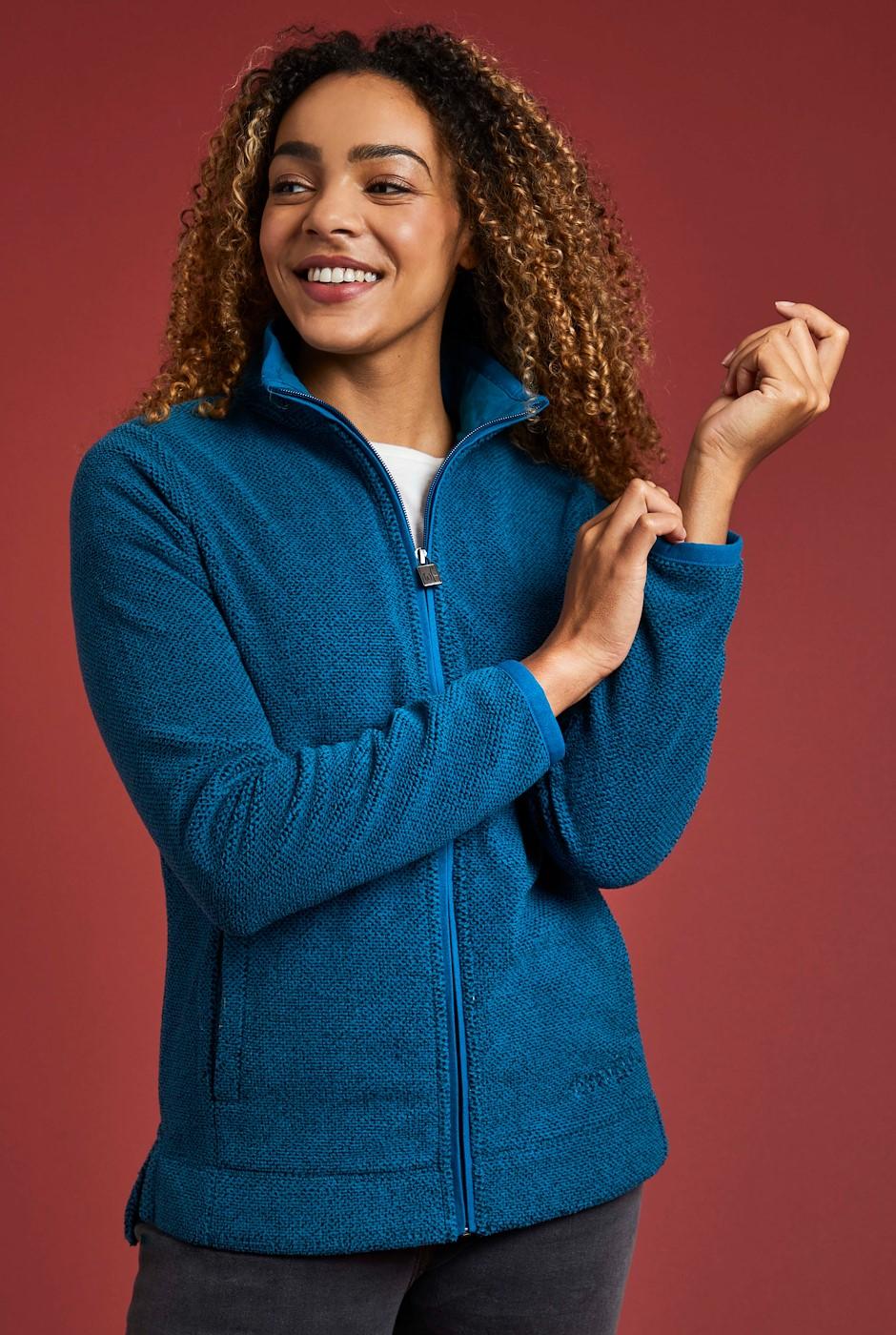 Aggie Full Zip Fleece Petrol Blue
