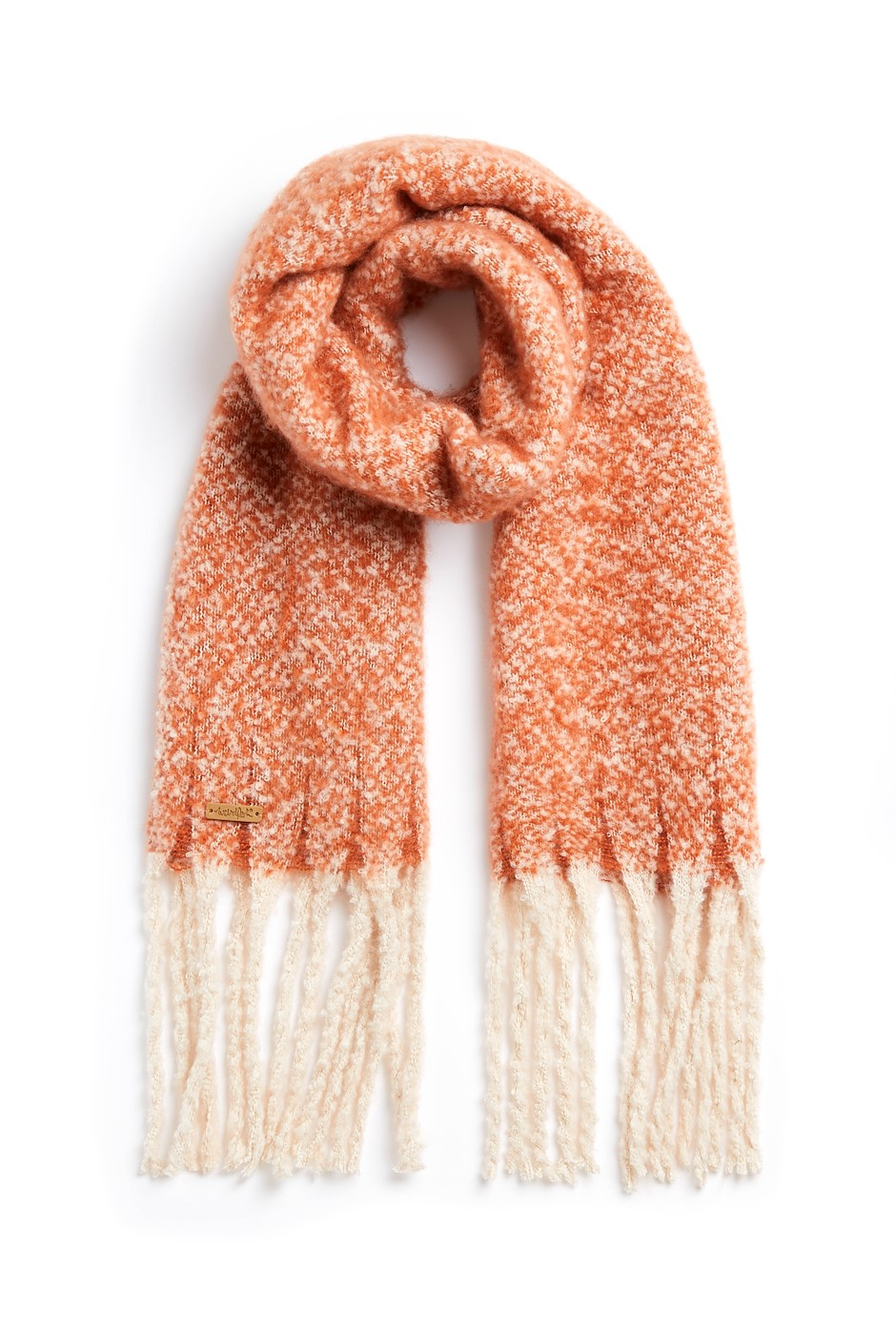 Ninah Cosy Eco Brushed Scarf Rust
