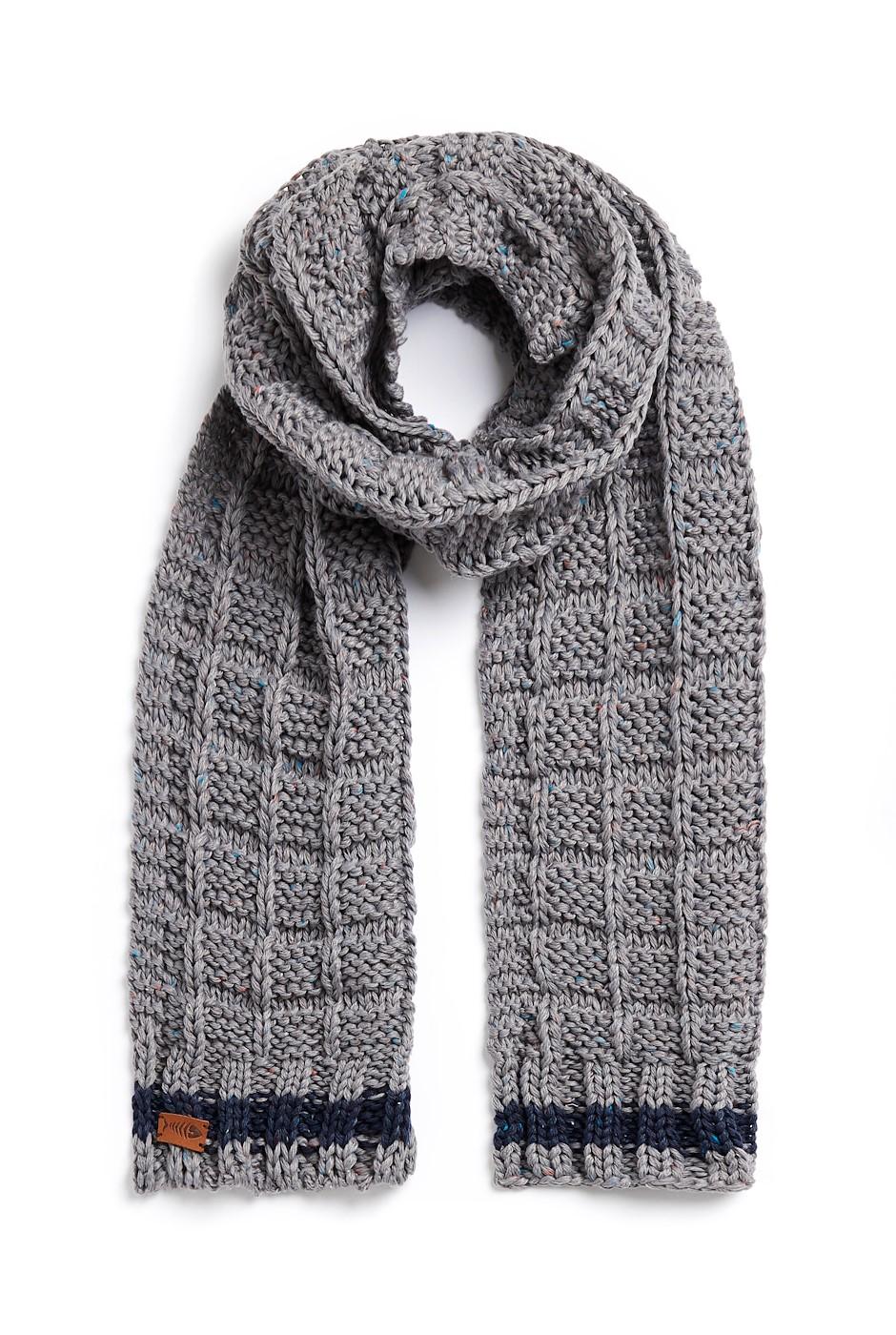 Nishin Eco Nepp Textured Stitch Scarf Frost Grey