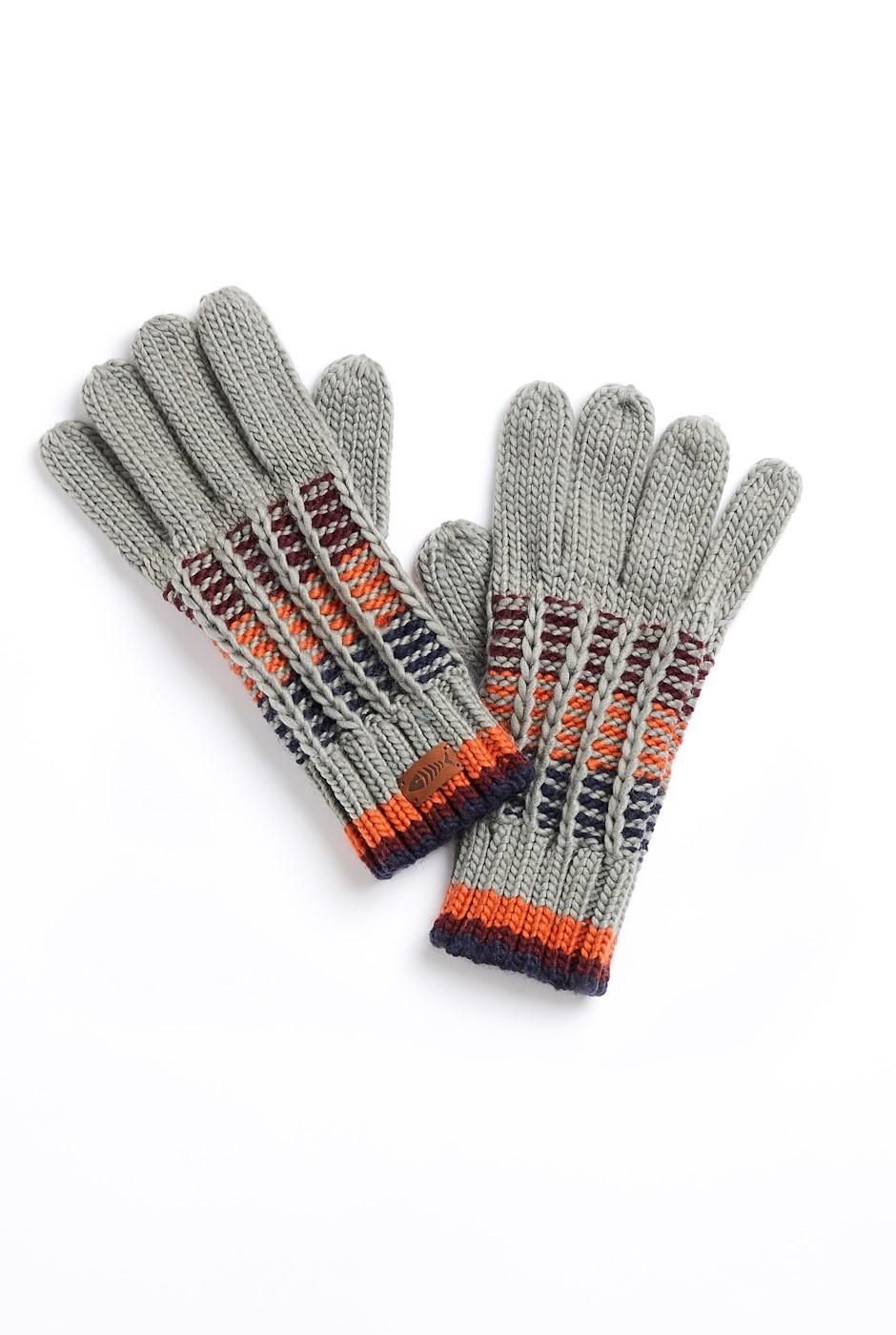 Somerset Eco Stripe Rib Gloves Frost Grey