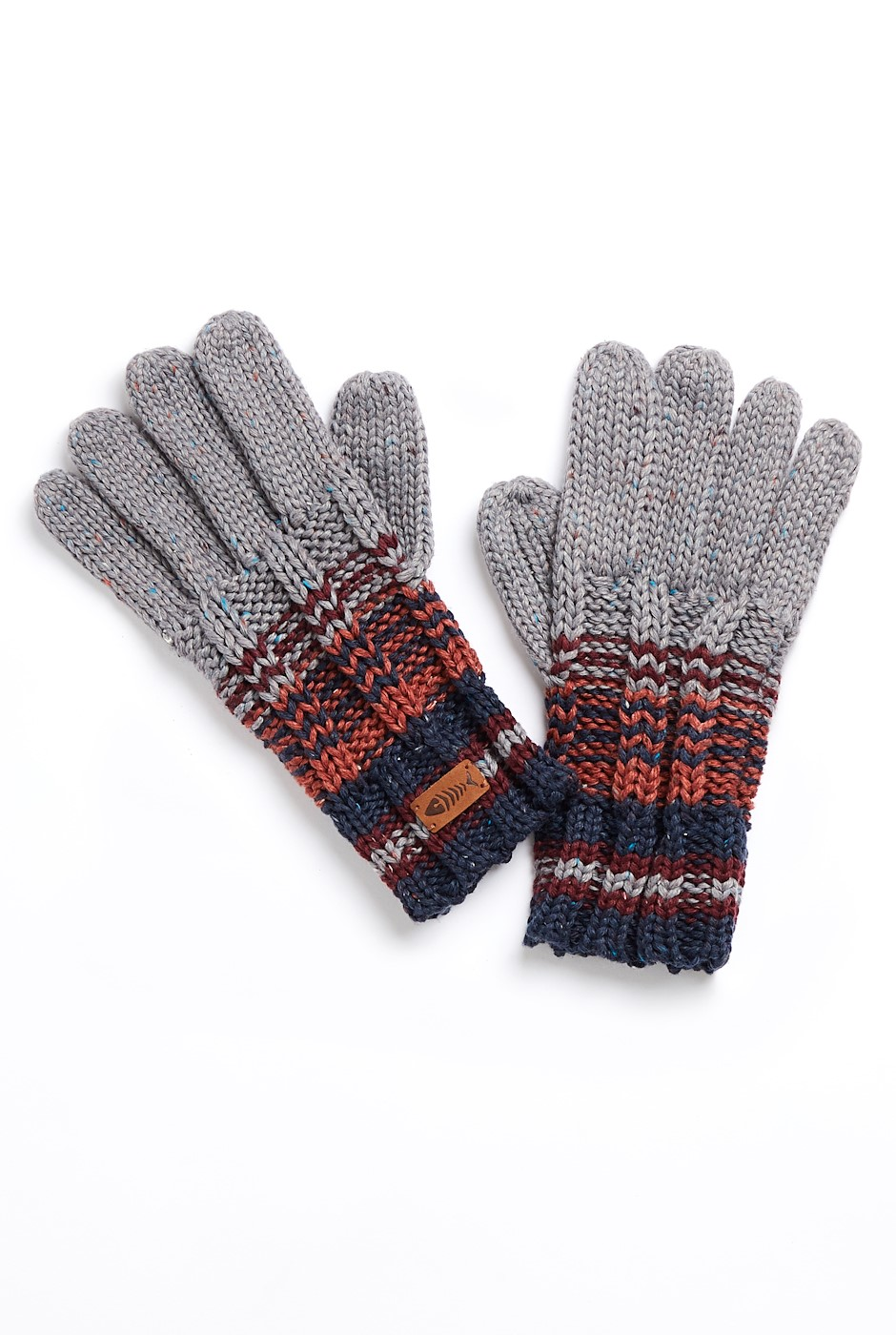 Munday Eco Variagated Striped Gloves Navy