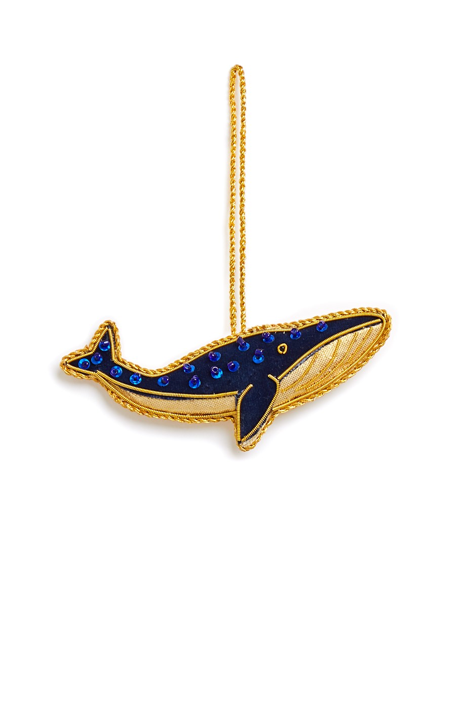 Whale Decoration Navy