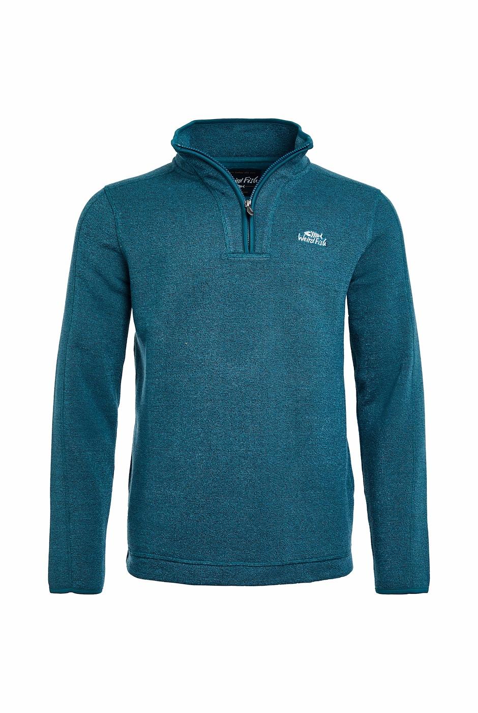 Stowe 1/4 Zip Soft Knit Petrol Blue