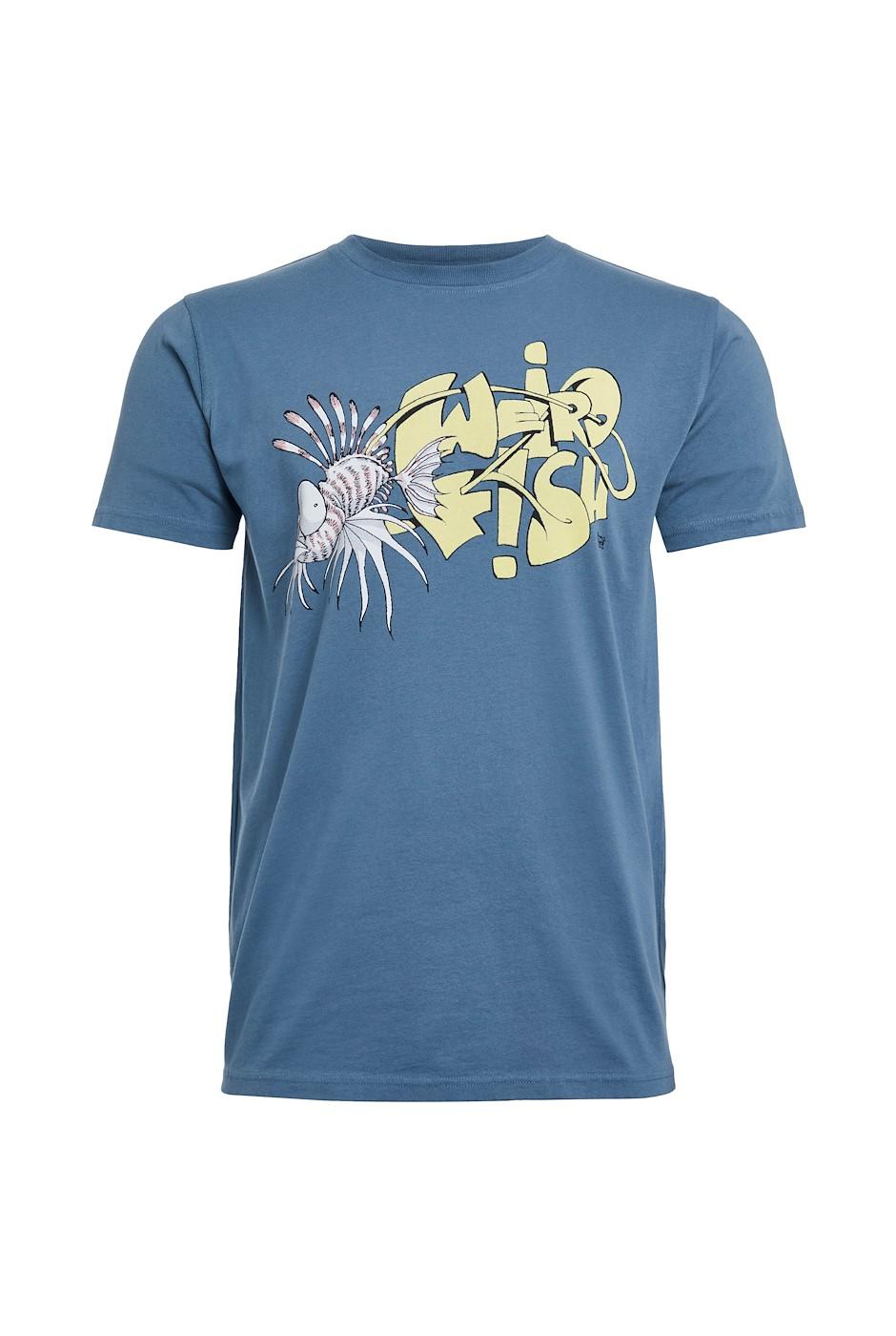 Scorpion Fish Organic Cotton Artist T-Shirt Blue Mirage