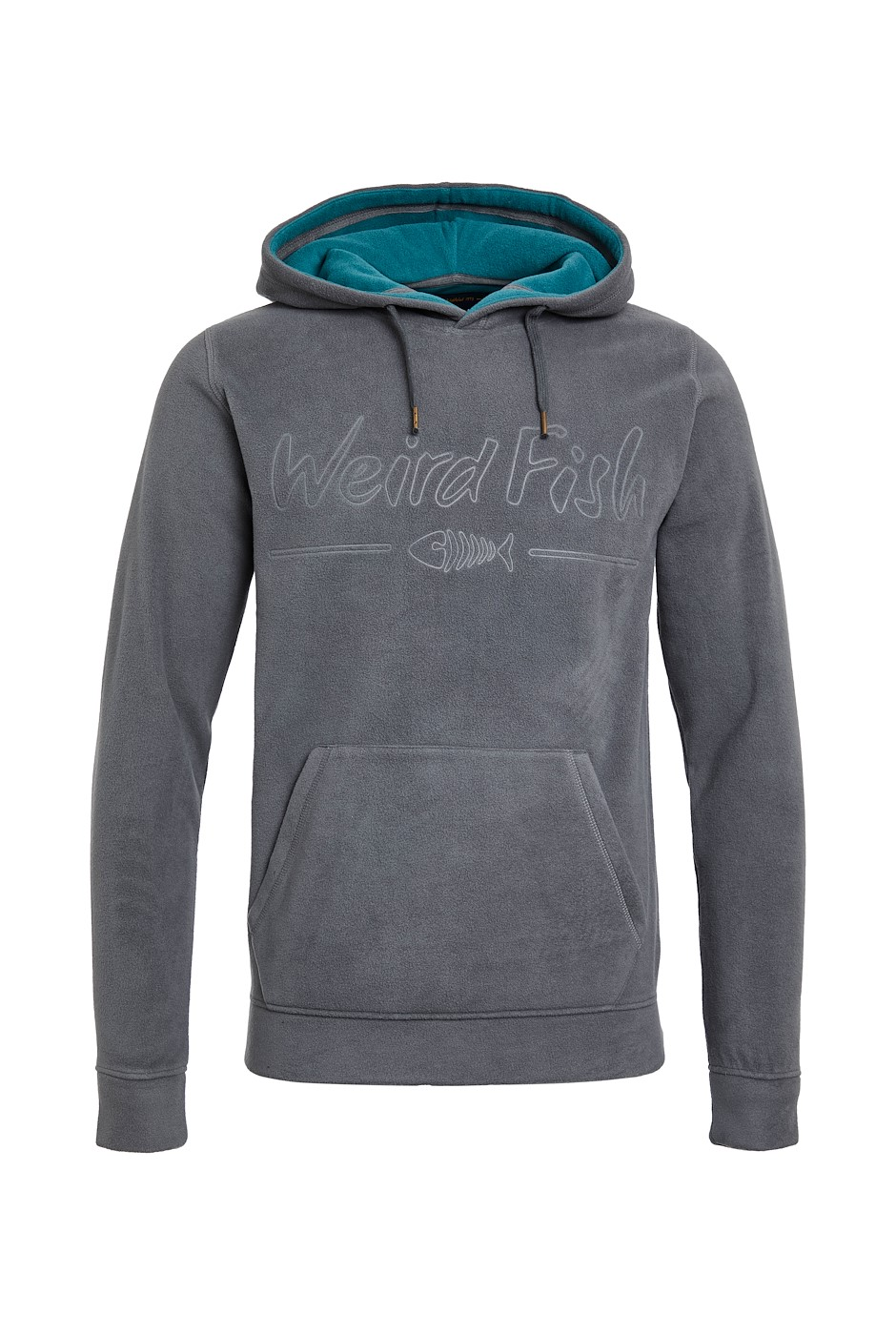 Hedlund Recycled Embossed Microfleece Hoodie Cement