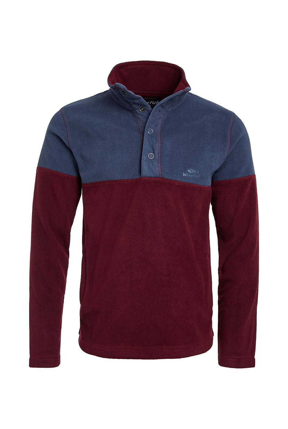 Denzel Recycled Embossed Microfleece Antique Cherry