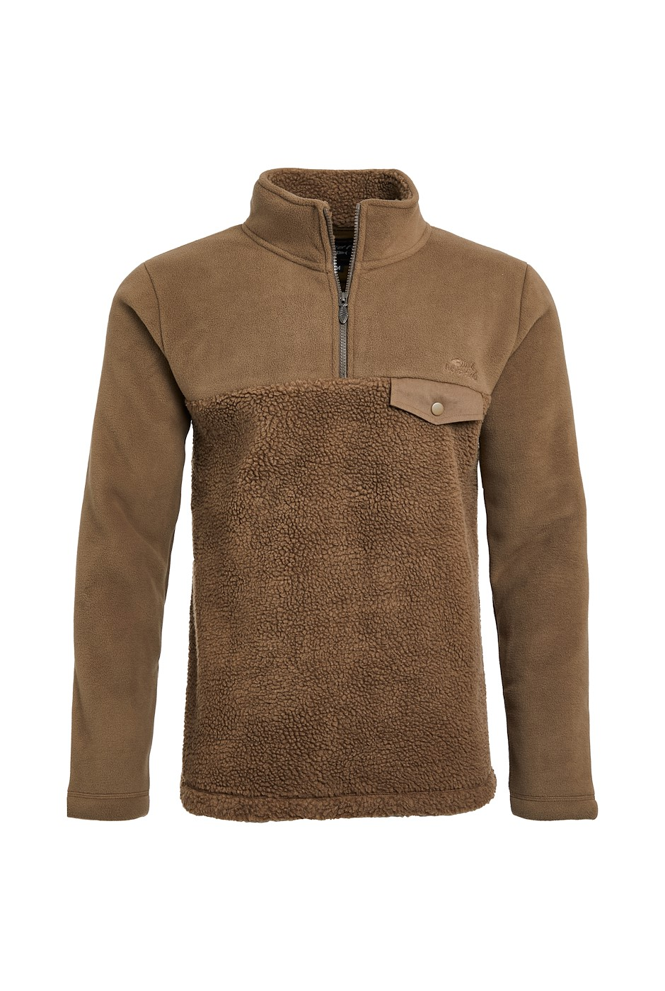 Atmore Recycled 1/4 Zip Panelled Borg Fleece Cola