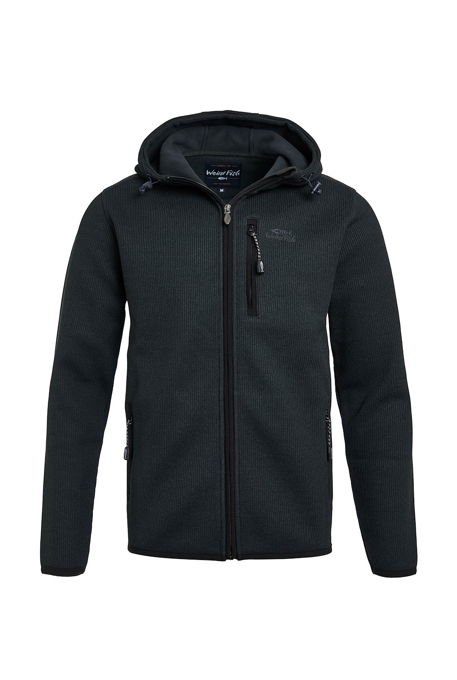 Lockie Recycled Full Zip Bonded Fleece Washed Black