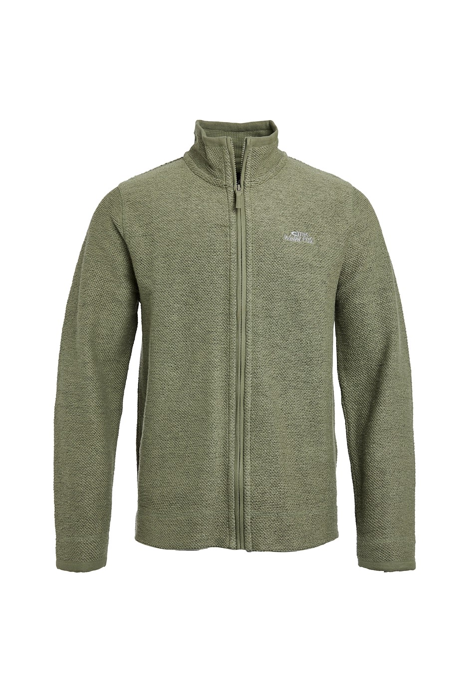 Clarke Full  Zip Sierra Knit Khaki Grey